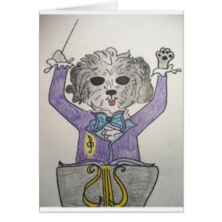 Maestro del perrito tarjeta de felicitación