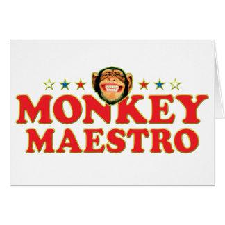 Maestro enrrollado del mono felicitacion