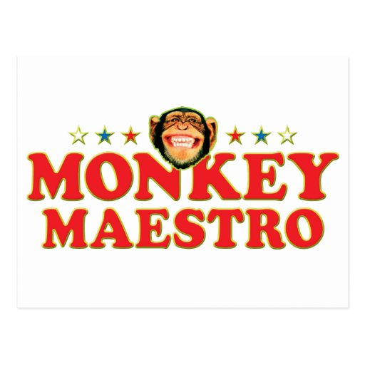Maestro enrrollado del mono postal