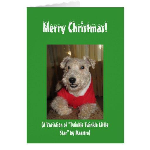 Maestro las tarjetas de Navidad de Lakeland Terrie