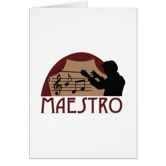 Maestro Tarjeta De Felicitación