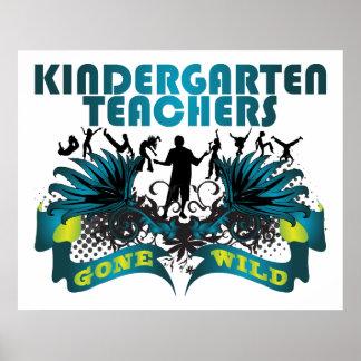 Maestros de jardín de infancia idos salvajes impresiones