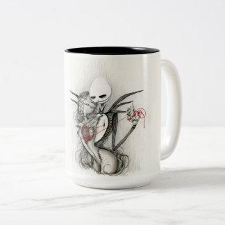mag taza de café de dos colores