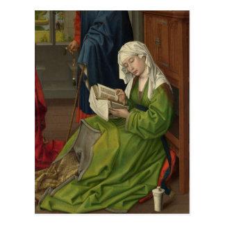 Magdalen en la lectura verde postal