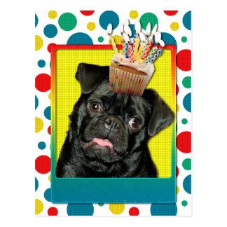 Magdalena del cumpleaños - barro amasado - Ruffy Postales