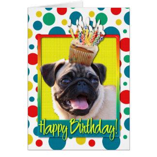 Magdalena del cumpleaños - barro amasado tarjeta de felicitación