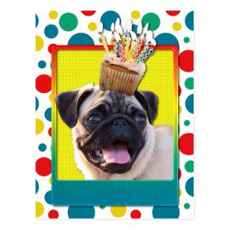 Magdalena del cumpleaños - barro amasado postal