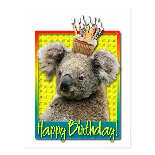 Magdalena del cumplea os koala postal zazzle for Piscina koala cumpleanos