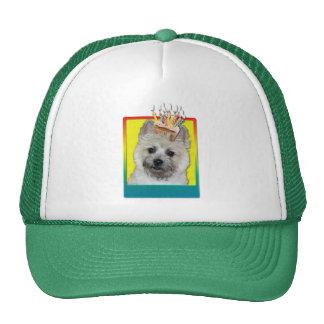 Magdalena del cumpleaños - mojón Terrier - oso de  Gorras