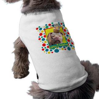 Magdalena del cumpleaños - Pitbull - chica del jer Camiseta De Mascota