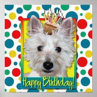 Magdalena del cumpleaños - Westie - el tanque Posters