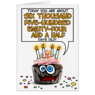 Magdalena del feliz cumpleaños - 18 años tarjeta de felicitación