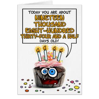 Magdalena del feliz cumpleaños - 54 años tarjeta