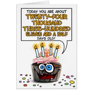 Magdalena del feliz cumpleaños - 66 años tarjeta de felicitación