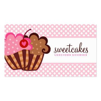 Magdalena dulce de 311 tortas plantilla de tarjeta de negocio