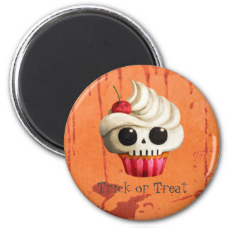 Magdalena mortal del cráneo de Halloween Imanes