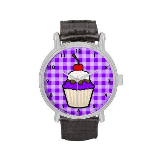 Magdalena púrpura violeta reloj de mano
