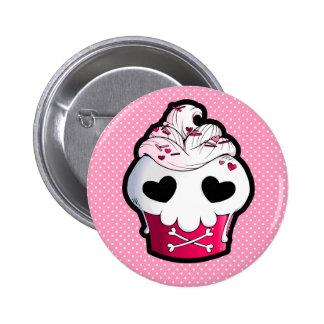 Magdalena rosada del cráneo chapa redonda de 5 cm