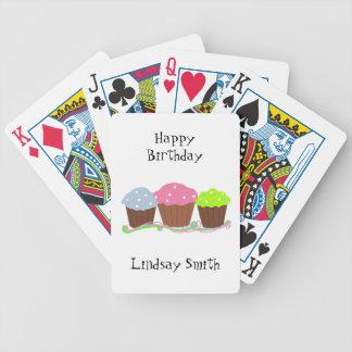 Magdalenas del cumpleaños barajas de cartas