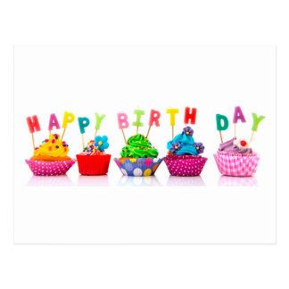 Magdalenas del feliz cumpleaños postal