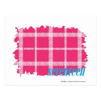 Magenta 4 de la tela escocesa postal