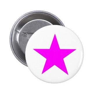 Magenta de la estrella los regalos de Zazzle del M Chapa Redonda De 5 Cm