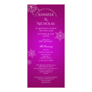 Magenta del programa del boda del invierno del tarjetas publicitarias personalizadas