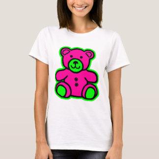 Magenta del verde del oso de peluche los regalos camiseta