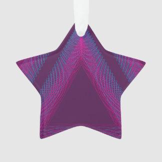 Magenta ondulada del guilloquis del triángulo