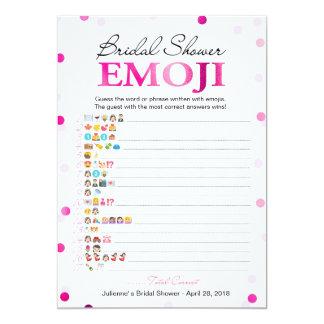 Magenta rosada nupcial del juego el | de Emoji Invitación 12,7 X 17,8 Cm
