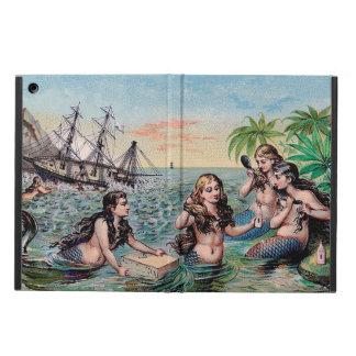 Magia de la antigüedad del vintage de la sirena funda para iPad air