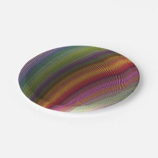 Magia de la burbuja plato de papel
