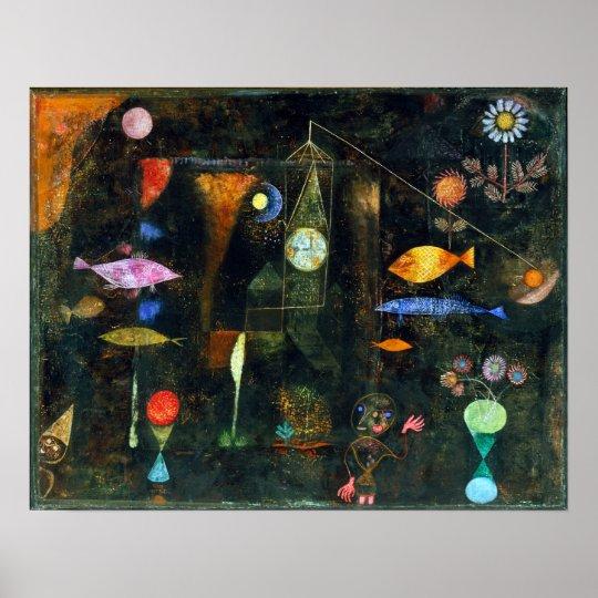 Magia de los pescados de Paul Klee Póster