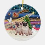 Magia de Navidad - barros amasados (cervatillo dos Ornaments Para Arbol De Navidad