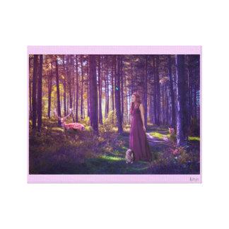 Magia del bosque impresión en lienzo