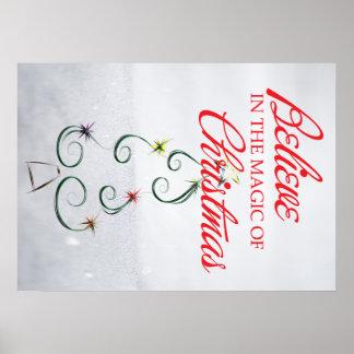 Magia del navidad póster