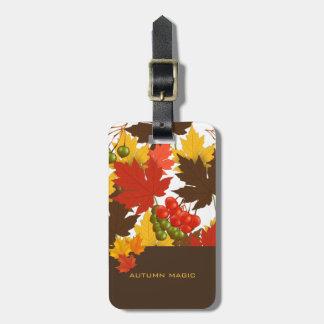 Magia del otoño etiqueta para maletas