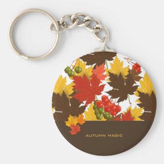 Magia del otoño llavero redondo tipo chapa
