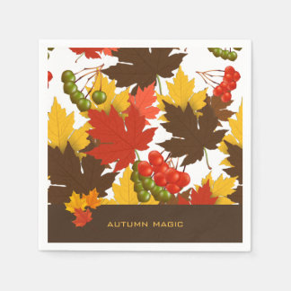 Magia del otoño servilleta de papel