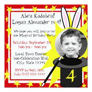 Magia yo cumpleaños invitación 13,3 cm x 13,3cm