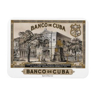 Iman de Nevera Banco de Cuba Vintage Cubano Imán Rectangular