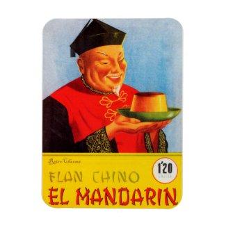Iman de Nevera Anuncio Flan Chino Vintage Imán Rectangular