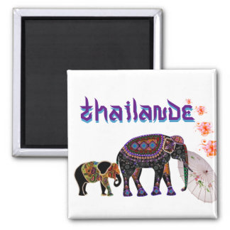 Magnet Tailandia Imán Cuadrado