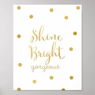 Magnífico brillante del brillo - impresión del