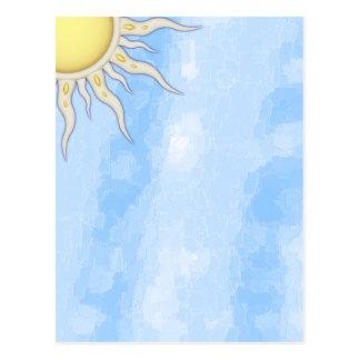 Magnífico usted es mi espacio en blanco de la sol postal