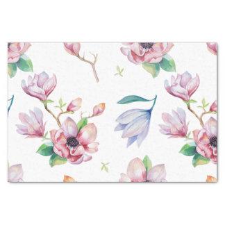 Magnolia de la acuarela papel de seda