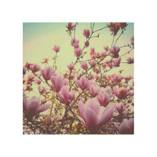 Magnolia Impresión En Madera
