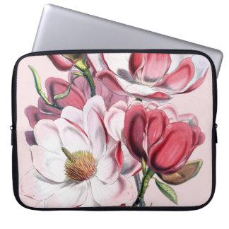 Magnolia rosada funda para portátil