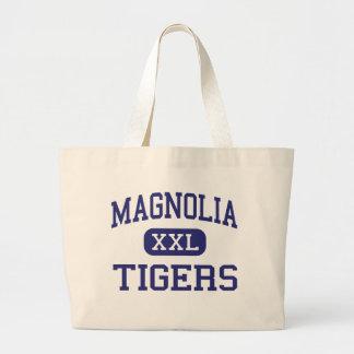 Magnolia - tigres - joven - punto del musgo bolsas de mano