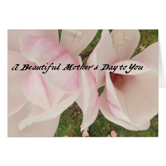 Magnolias 2013 del día de madre tarjeta de felicitación